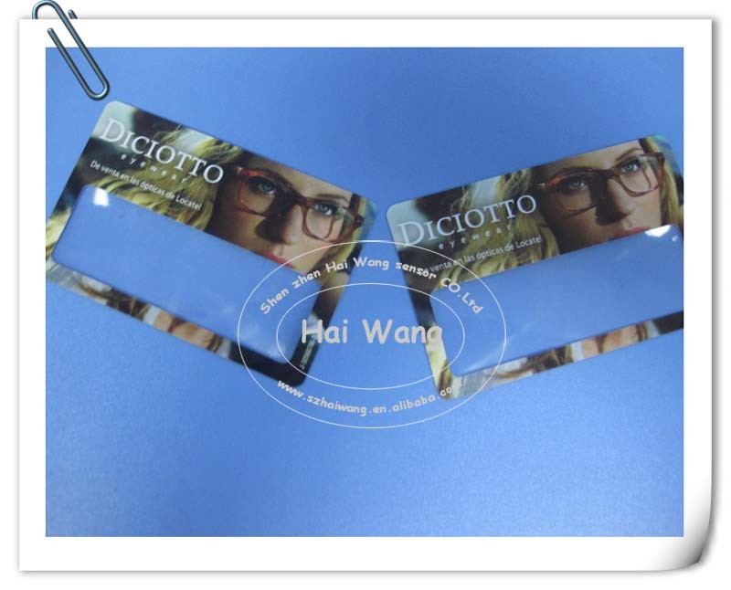 85*55mm Name Card Magnifier for Promotional Gift (HW-802) pictures & photos