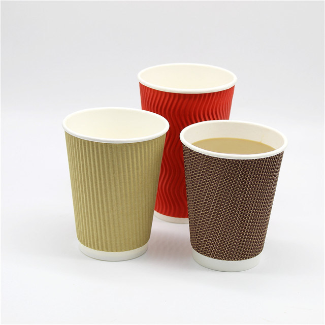 Hot Item Pla Ripple Wall Paper Coffee Cups Bio Paper Coffee To Go Cups With Lids Takeaway