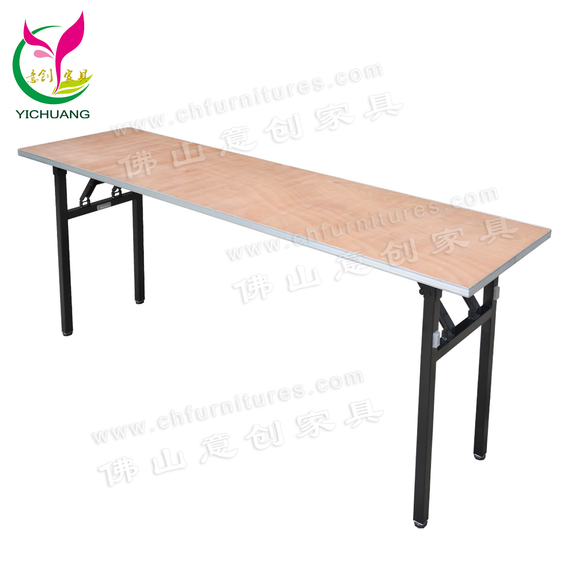 - China Yc-T38 Folding Lacquer Plywood Rectangular Banquet Table
