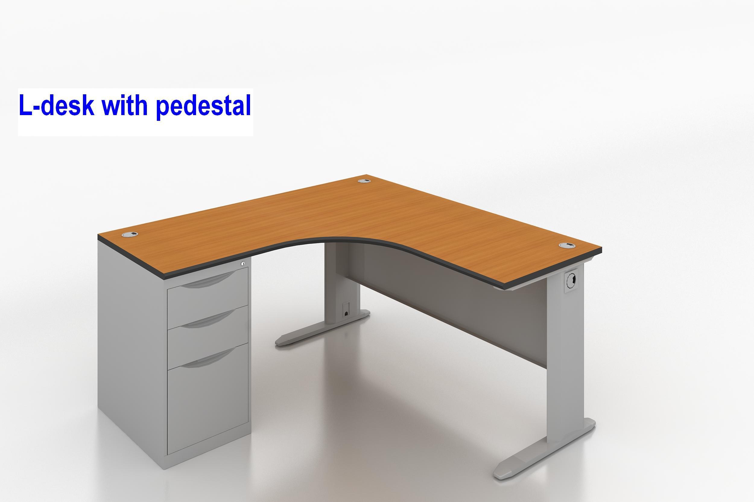 L Leg Metal Office Desk 500