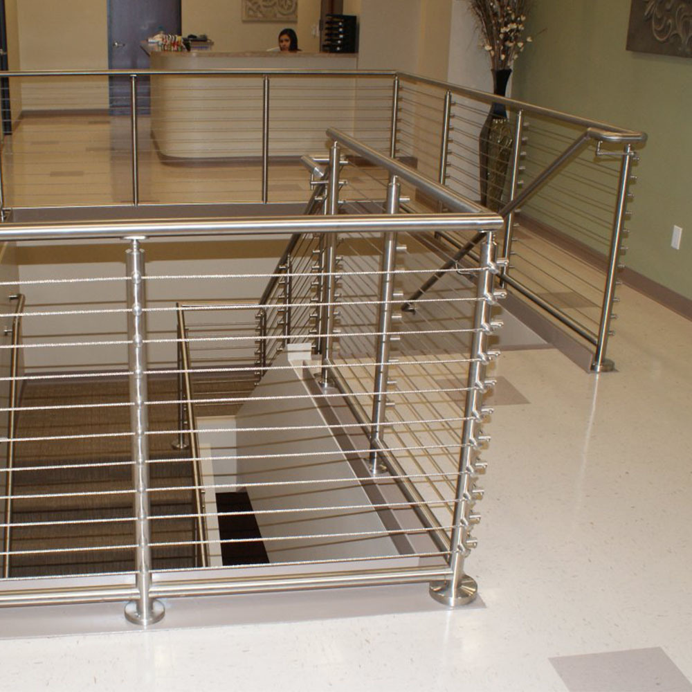 China Commercial Building Stainless Steel Balcony Wire Cable Wiring For Dummies Railing