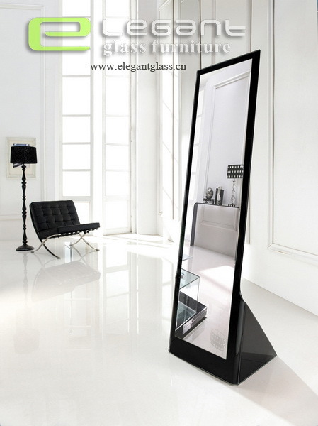 China Black Glass Full-Length Mirror in Bedroom Photos & Pictures ...