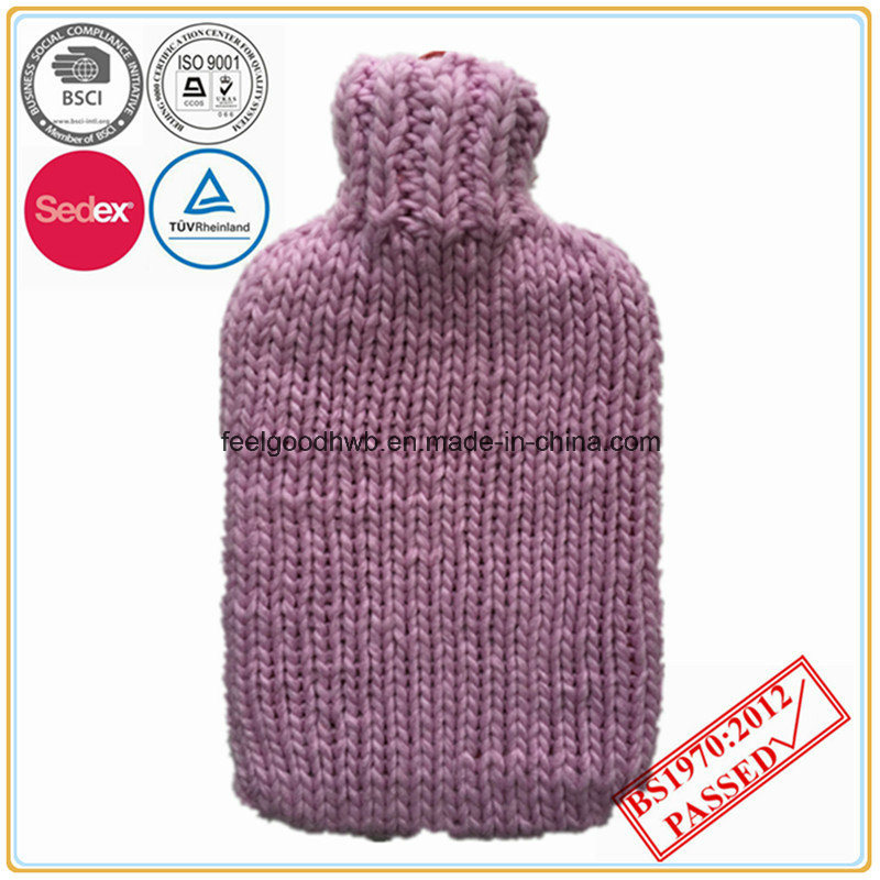 BS Standard Hot Water Bottle Cable Knitted Cover