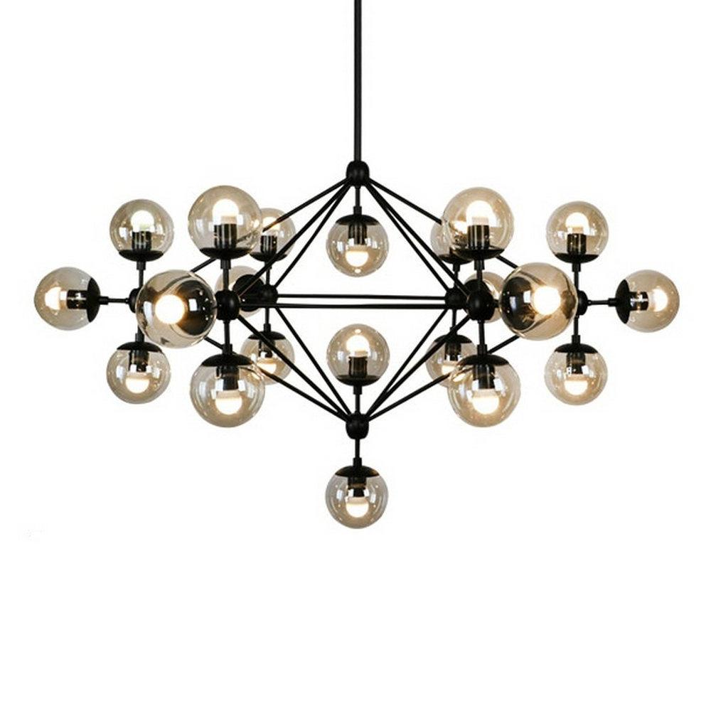 Hot item 5 10 15 21 head bulbs dna bubble glass ball pendant light modo magic bean pendant light