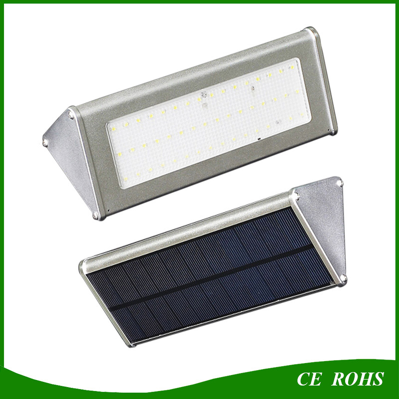 Durable High Quality Aluminum Microwave Radar Motion Sensor 48LED 1000lm Solar Lamp IP65 Outdoor Solar LED Wall Light pictures & photos
