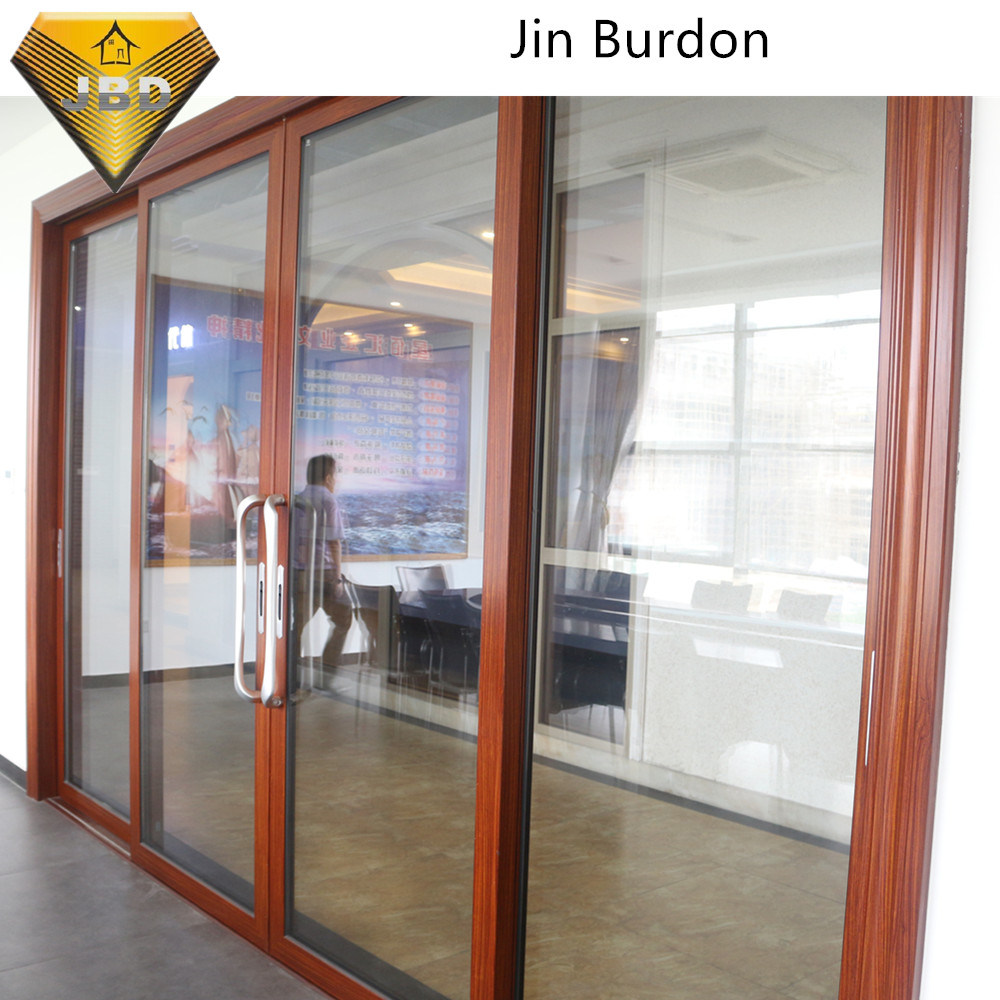 China Four Tracks Aluminum Alloy Sliding Door With 20mm Thickness