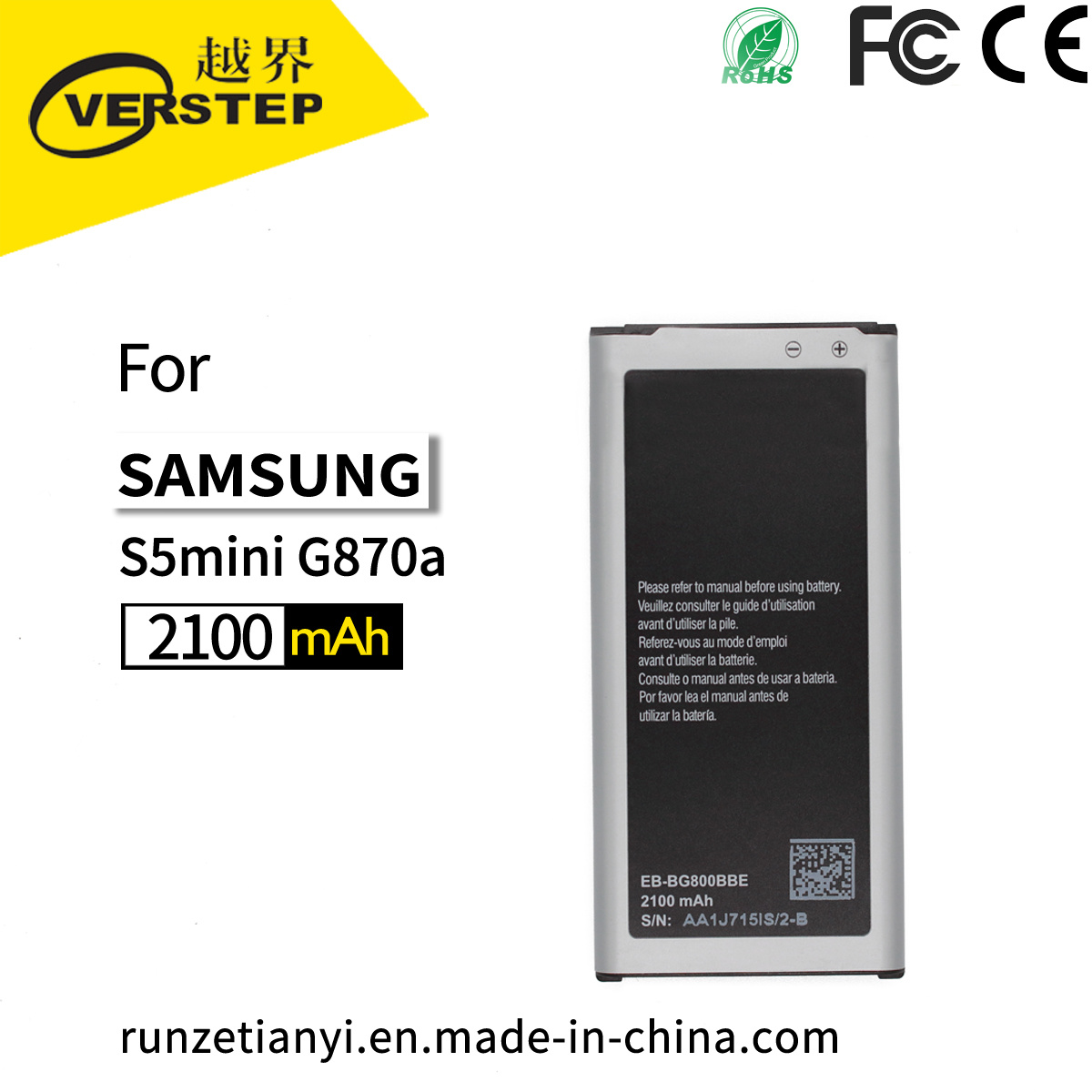 SAMSUNG Akku fr EB-bg800bbe D 2100 mAh fr Galaxy S5 Mini Akkus ...