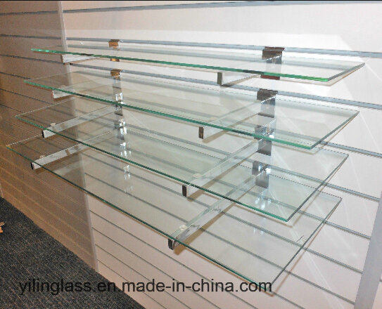 China Store Shelves Tempered Glass with Well Polished Edges
