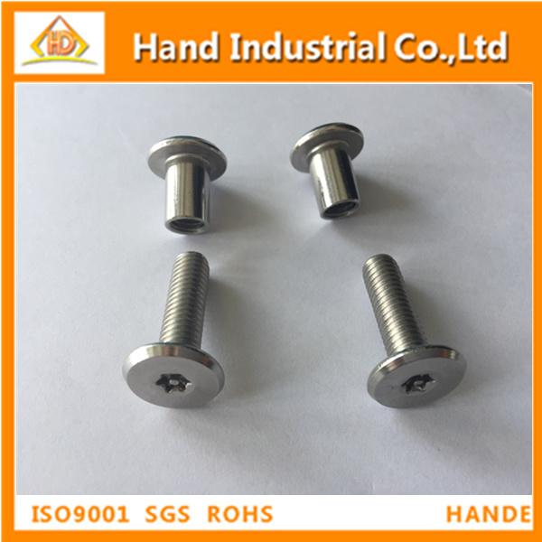 Flat head sex bolt machine screws