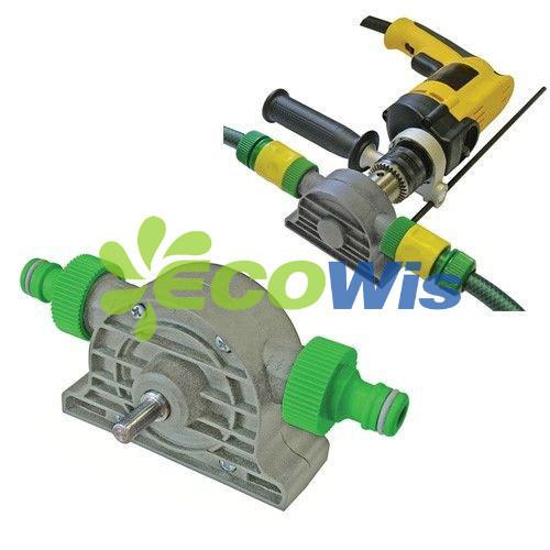 Drill Driven Water Pump, Garden Hose End Mini Pump