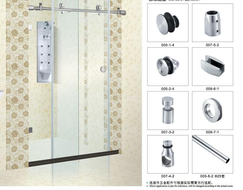 China Sliding Door Accessories For Glass Bathroom Fitting B007