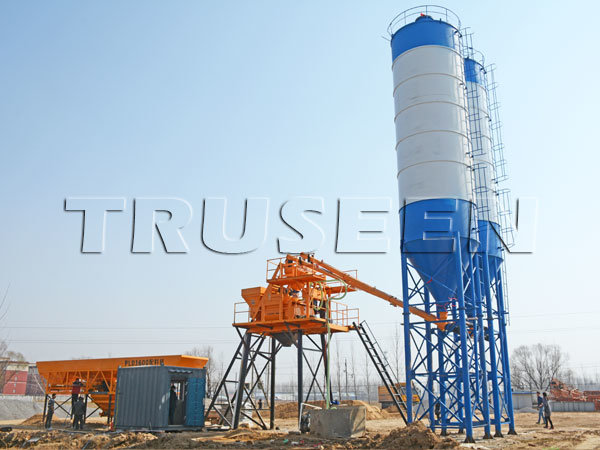 Skip Hoist Concrete Batching Mixing Plant Construction Machinery for Highrise pictures & photos