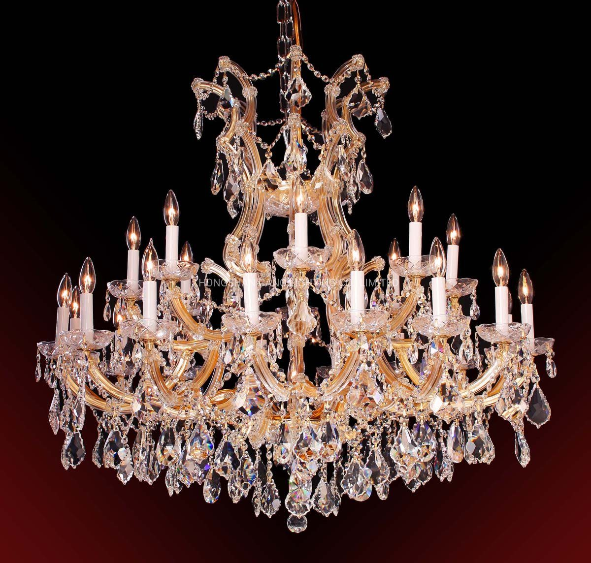 China Zinc Candle Crystal Chandelier