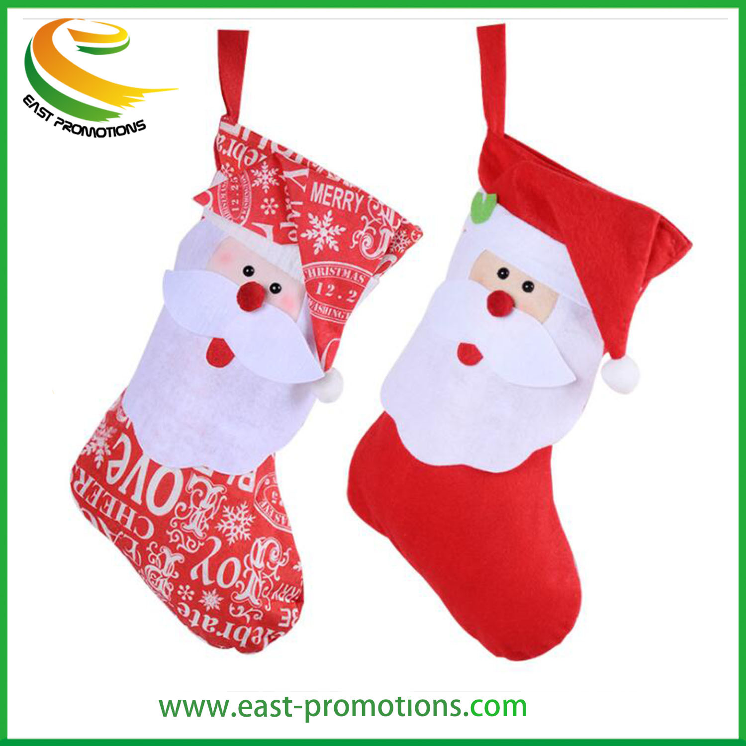 [Hot Item] Custom Non Woven Felt Christmas Socks for Christmas Decorations