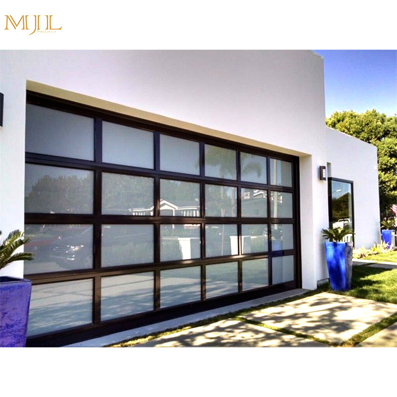 China Factory Price Automatic Glass Sliding Garage Doors   China Modern Garage  Door, Glass Garage Door