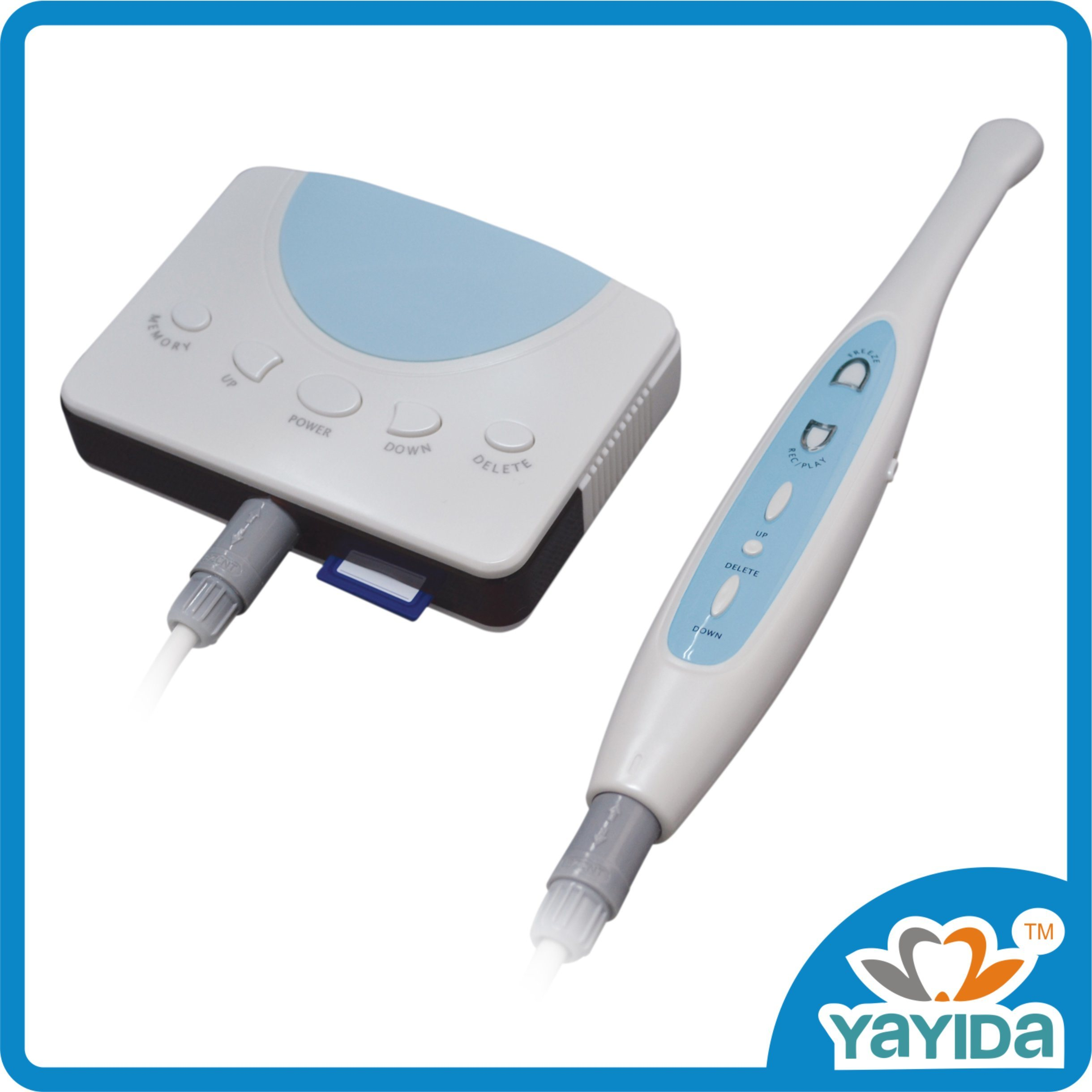 China 2.0 Mega Pixels Wired Dental Intraoral Camera with SD Memory ...