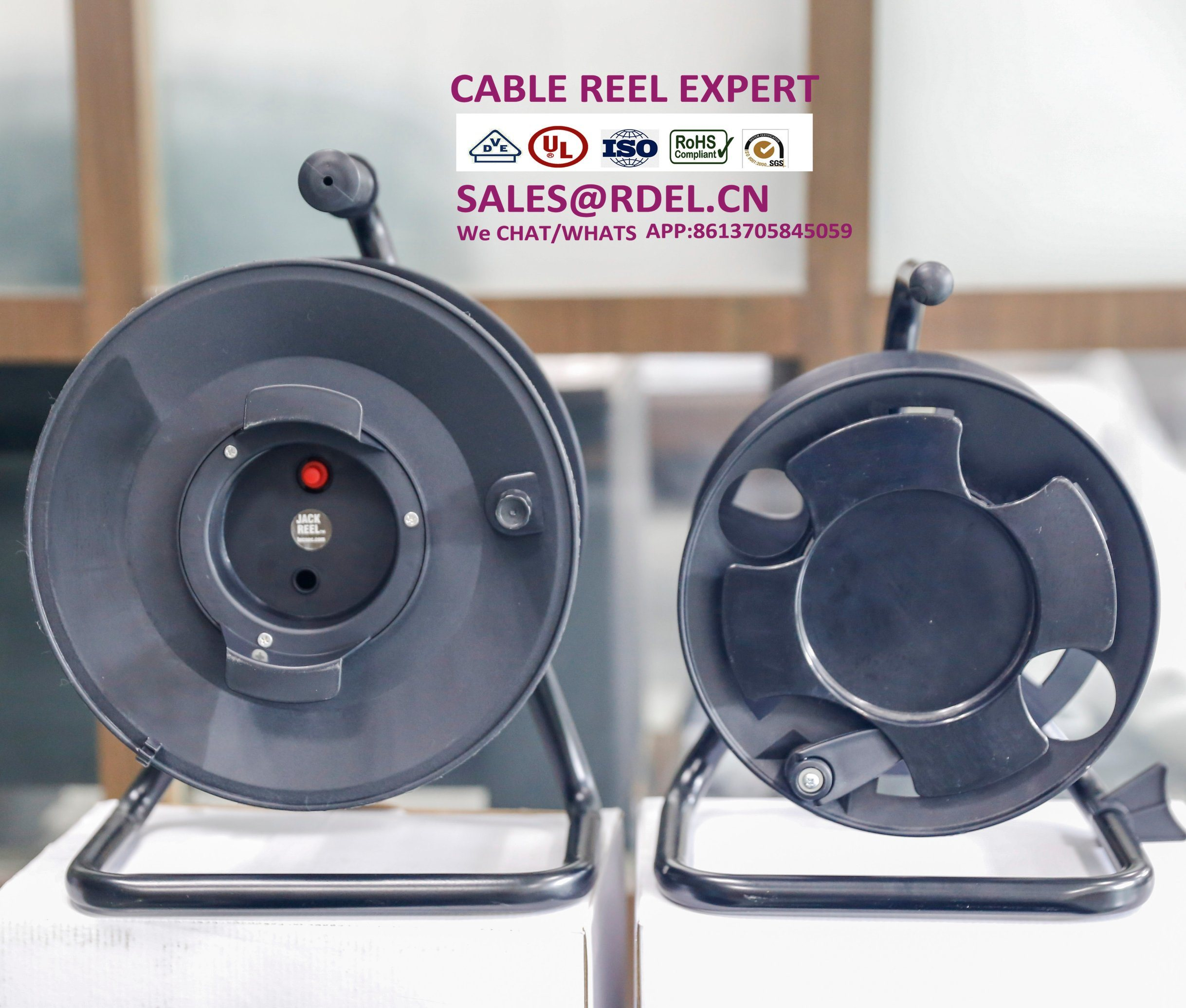 Retractable Cord Reel Electrical Reels China Automatic Cable Schuko Europe Extension Power Socket R
