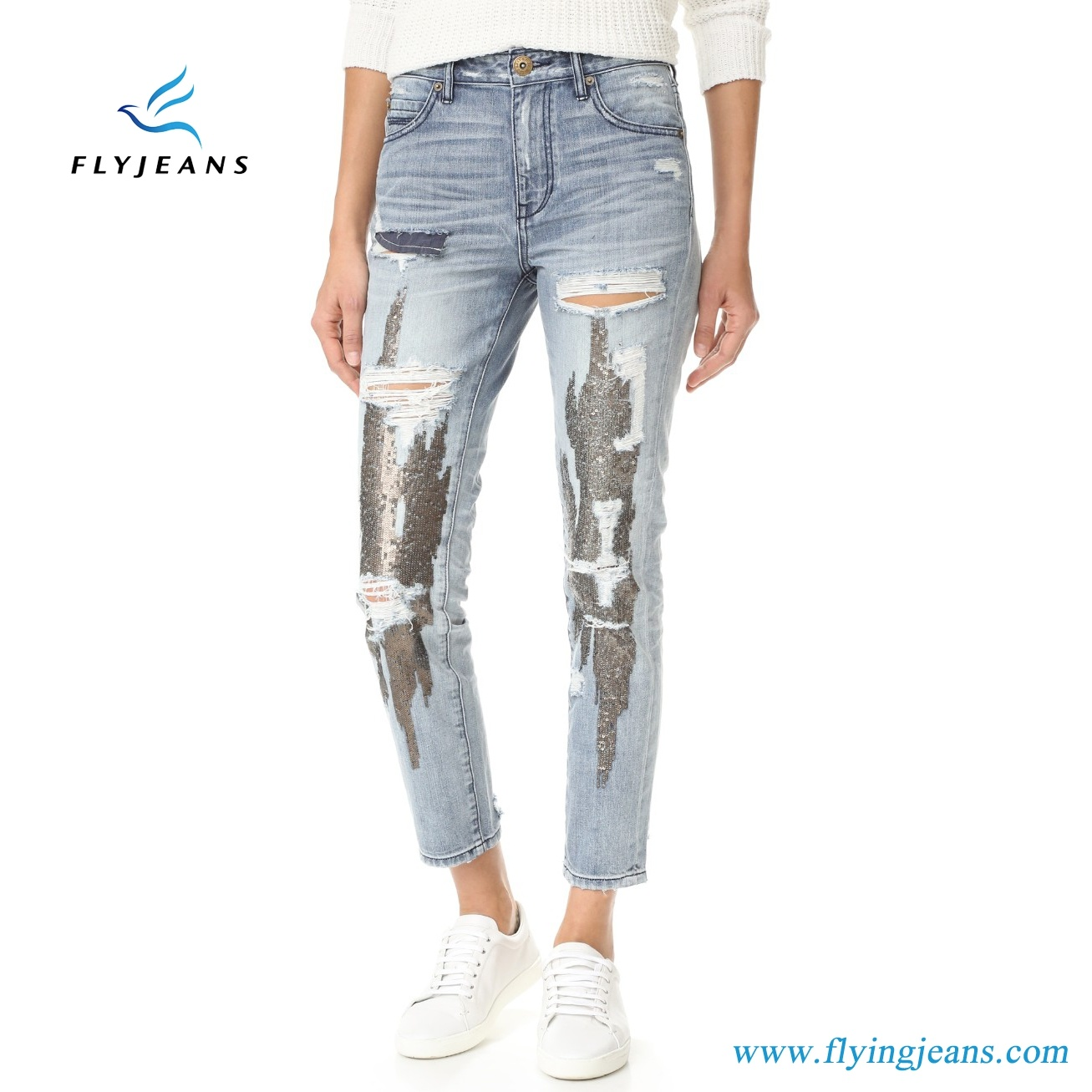 China Holes And Sequin Embroidery Slim Fit Women Denim Jeans Pants E P 335 China Woman Jeans And Denim Pants Price Savings not applicable to taxes. china holes and sequin embroidery slim