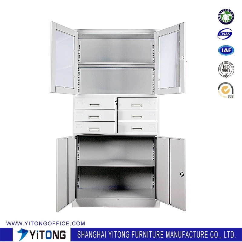 4-Door 6-Drawer Metal Storage Cabinet / Office Use Steel File Cabinet