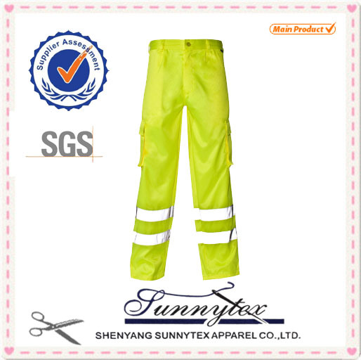 2017 High Quality Hi Vis 100% Cotton Reflective Work Pants Uniform for Men pictures & photos