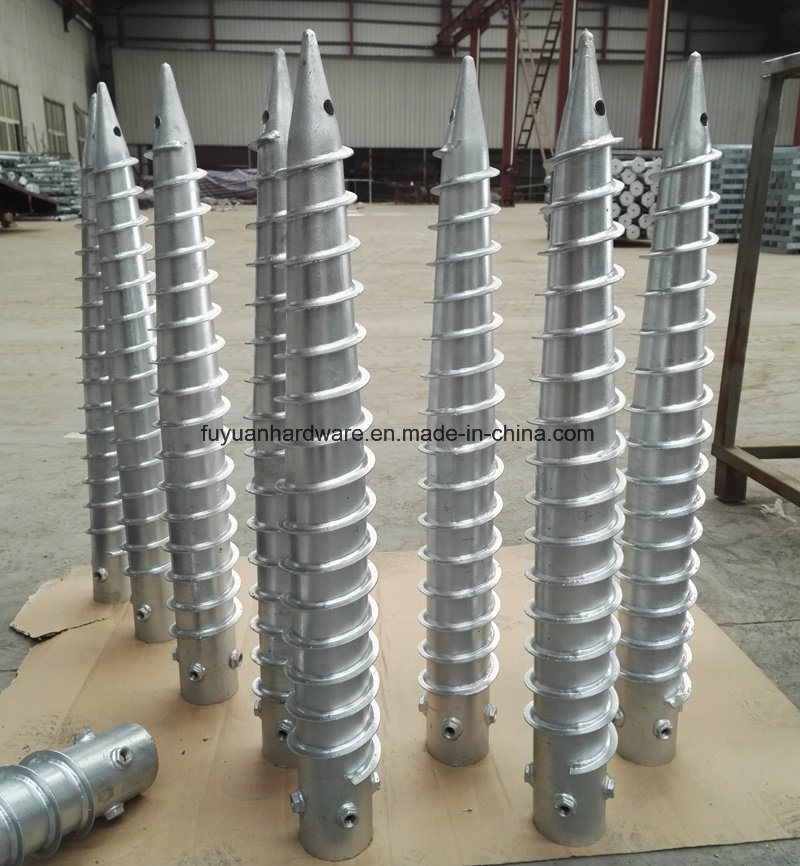 DIN Standard and Steel Material Helical Ground Screw