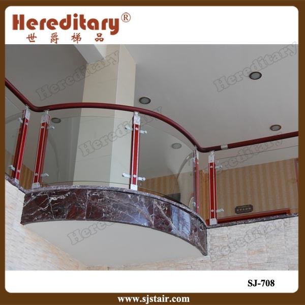 [Hot Item] Top Grade Interior Modern Balcony Railing Design Glass Stair  Railing Cost