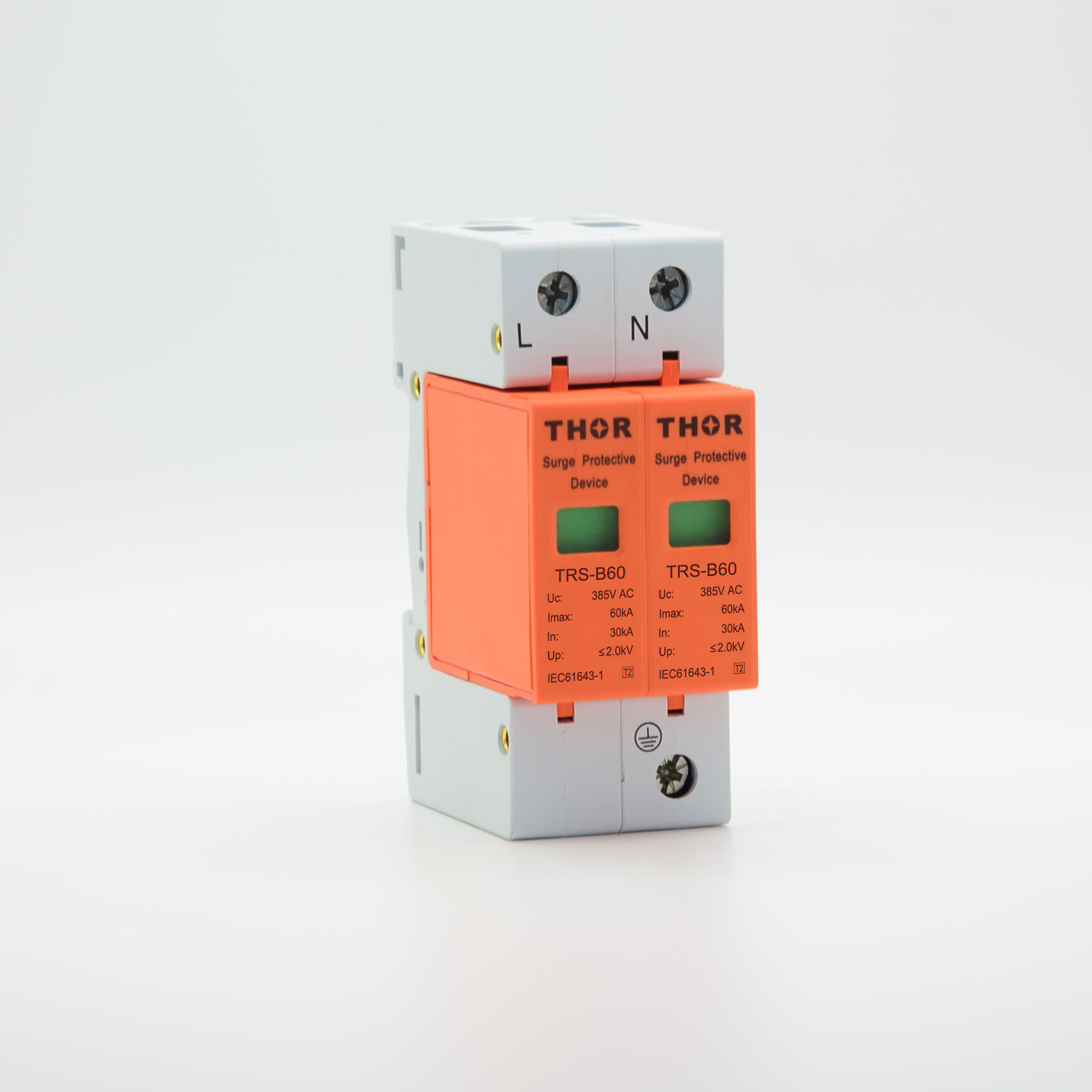 China 60ka Surge Protection Arrester Circuit Breaker For Ac Power