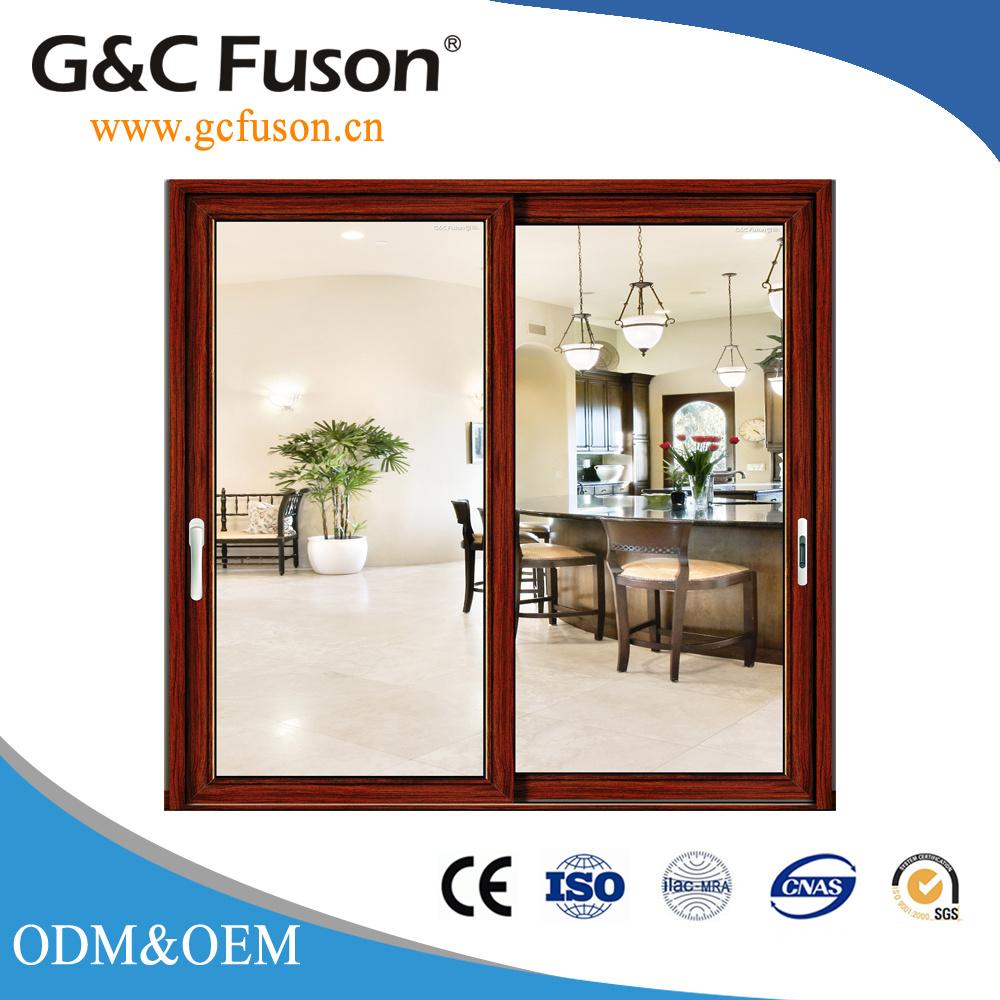 China Double Glazing 5mm Thick Tempered Glass Aluminum Sliding Doors