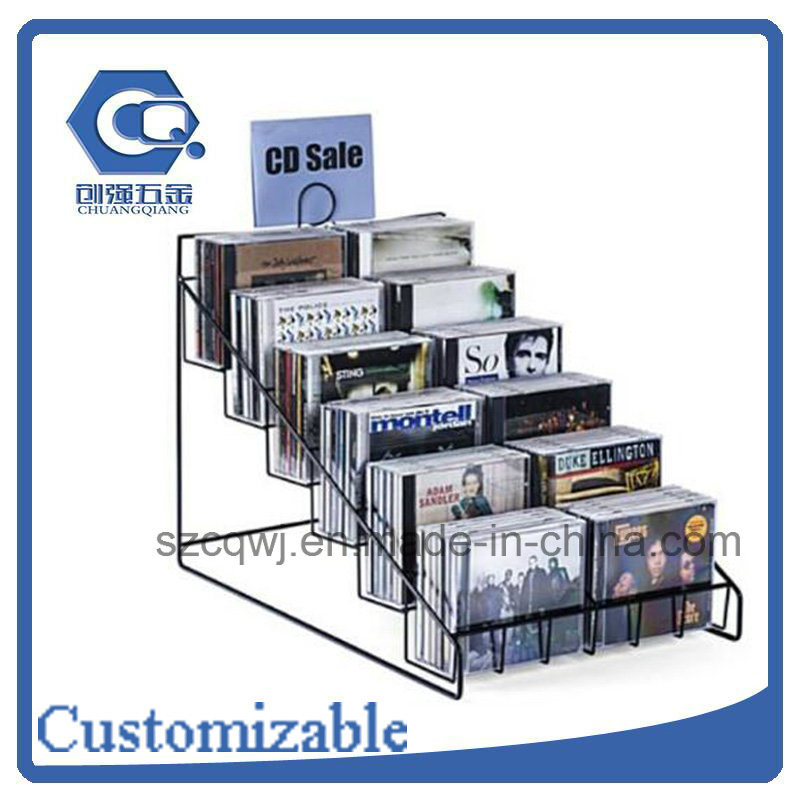 China Customized Counter Top Metal Wire CD Display Rack - China CD ...
