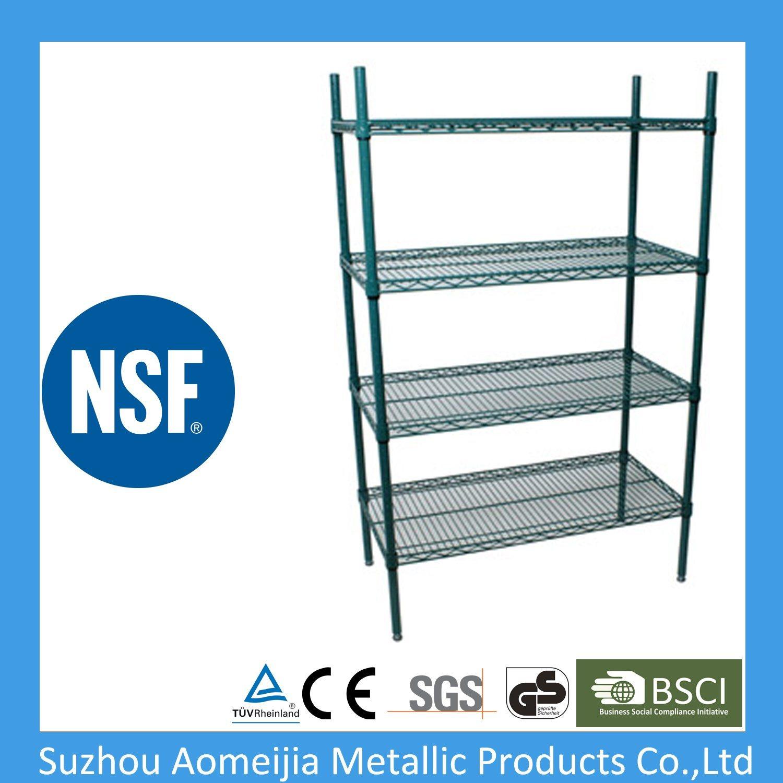 6 Tier NSF Stationary Epoxy Wire Shelf in China Changshu ...