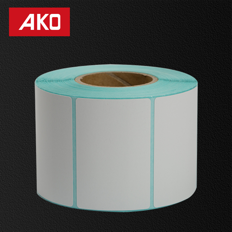 OEM Coated Paper Layer Holt Melt Self Adhesive Sticker with White Glassine Liner for Clothing Labelusey