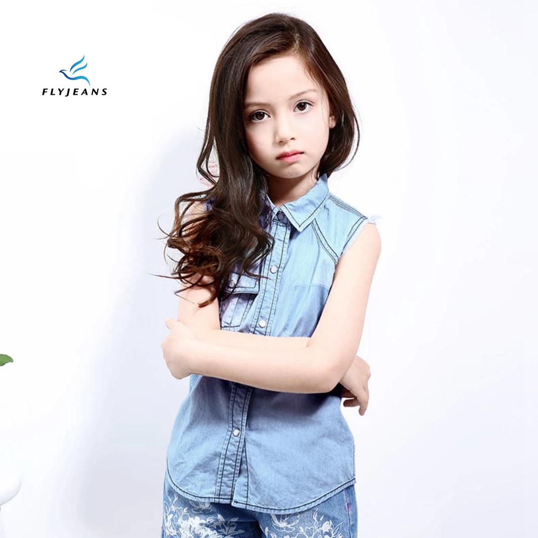 381b3c8e1c3d China Fashion Leisure Fresh Sleeveless Denim Shirt for Girls by Fly Jeans - China  Girls Clothes, Girls Overshirt