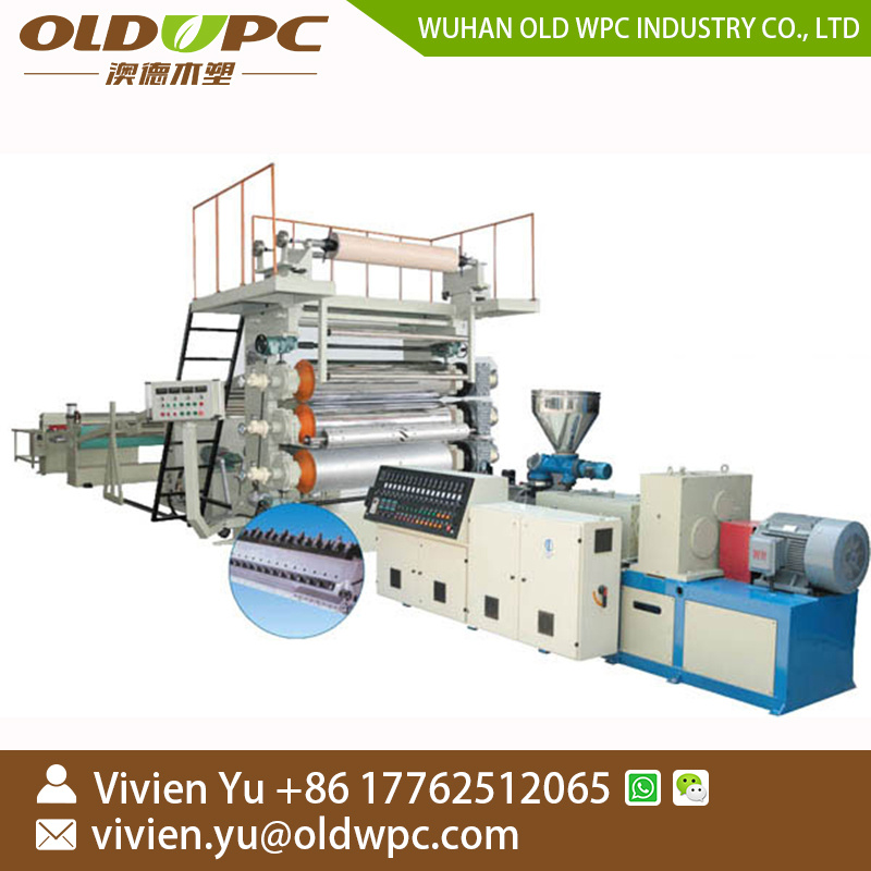 China Spc Floor Tile Production Making Machine Extrusion Machinery