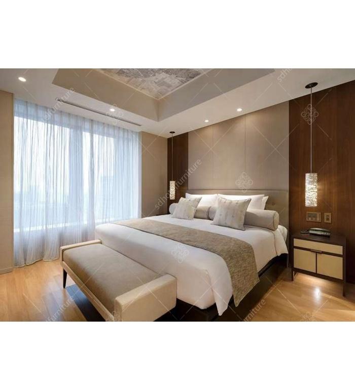 Hot Item Custom Chinese Apartment Size Bedroom Furniture For Hotel Dl 12
