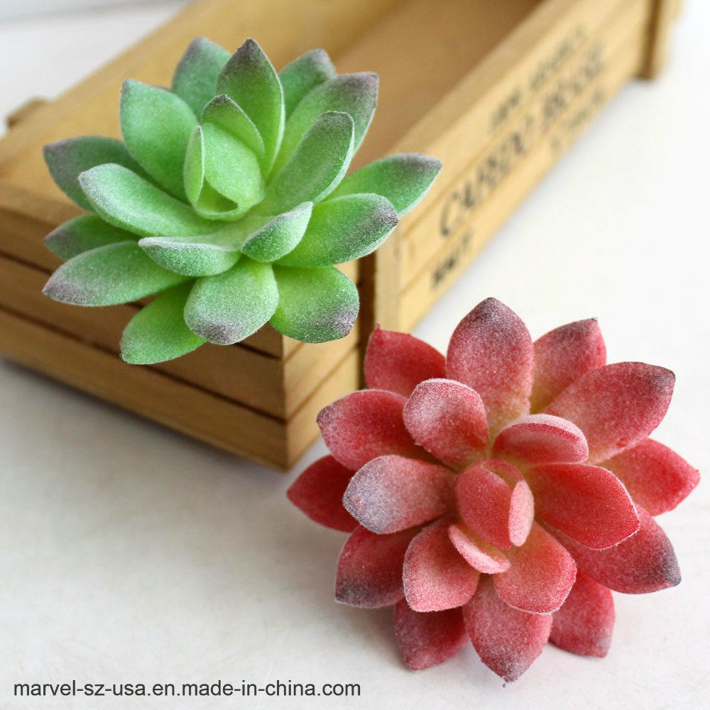 China Cream Lotus Landscape Decorative Artificial Succulent Plants
