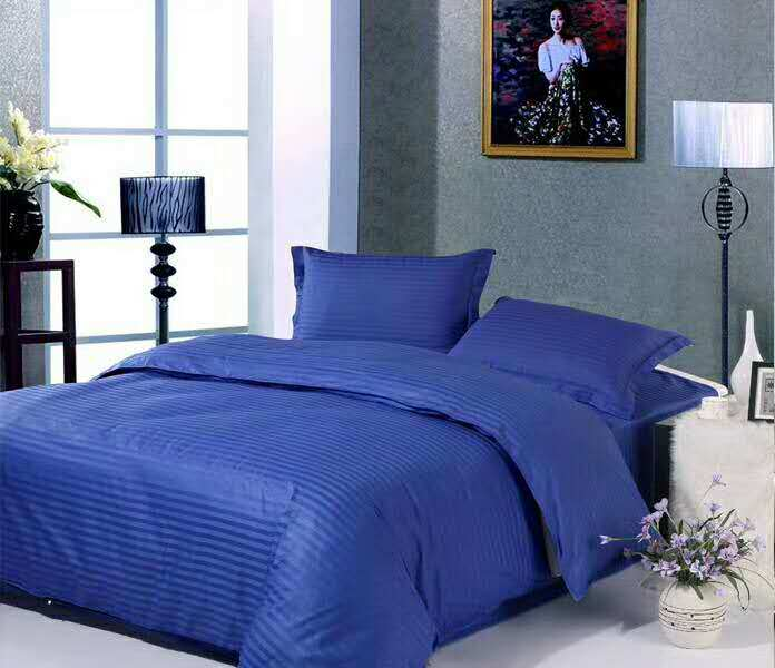 China Hotel Cotton Colorful Stripe Bedding Set/ Bed Linen/Bed ...