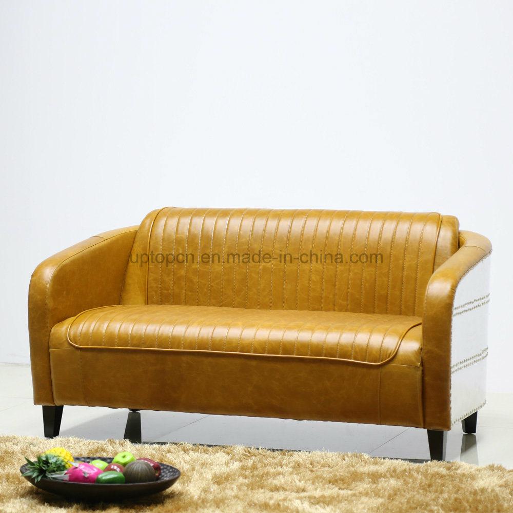 Peachy Hot Item Synthetic Aluminum Deco Leather Vintage Loveseat Sofa Sp Ks390 Machost Co Dining Chair Design Ideas Machostcouk