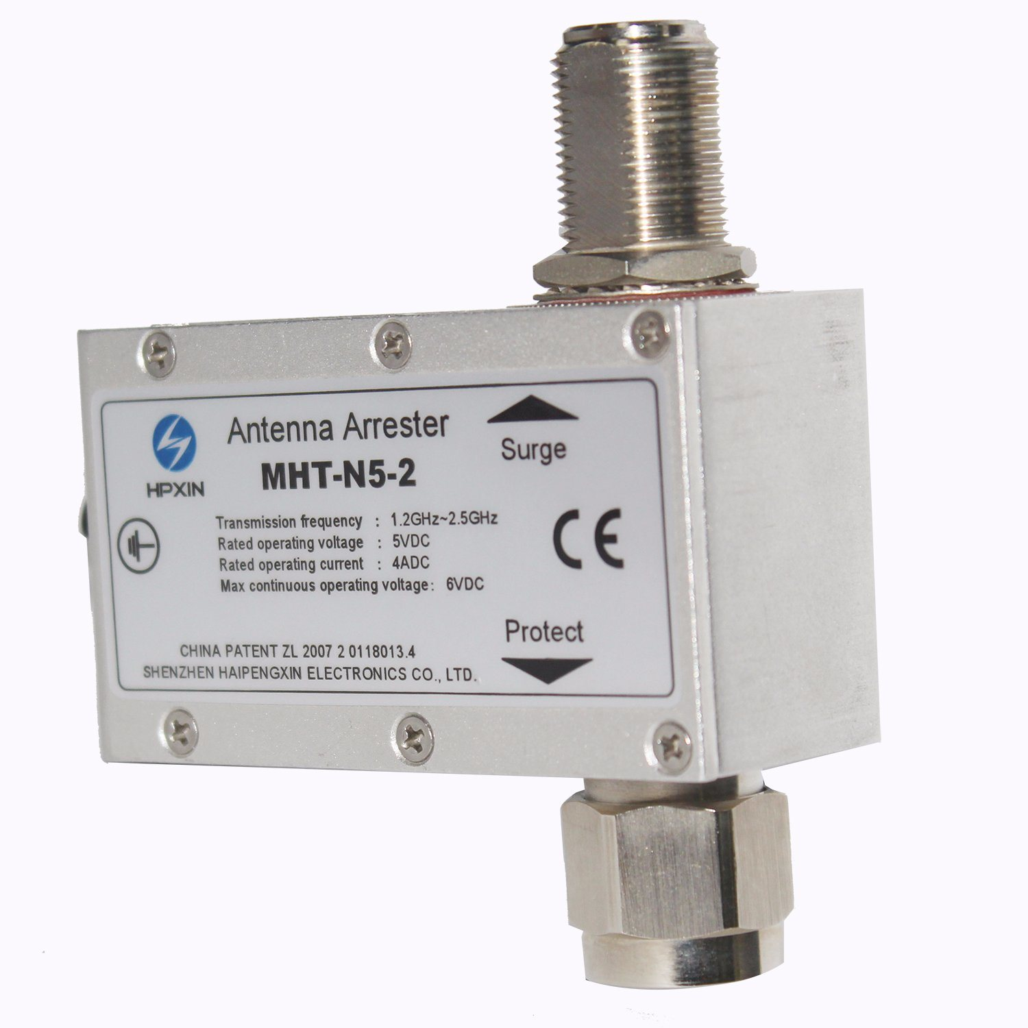 [Hot Item] Hpxin MHT-N5-2 Antenna Feeder N Type Connector Surge Protection  Device Surge Arrester SPD