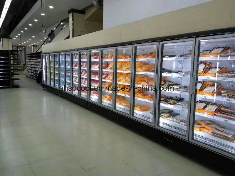 China 2 Glass Door Automatic Defrost Commercial Refrigerator For