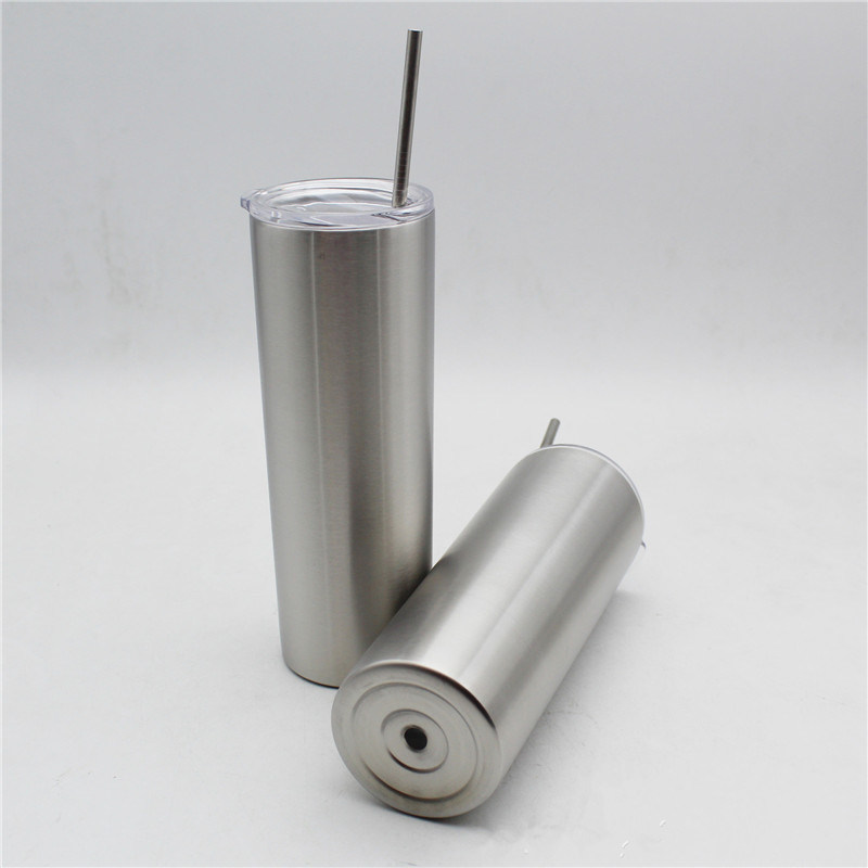 cc3d266cd7e China Hot Sale Designed Stainless Steel Skinny Tumbler, Personalized 20oz  Vacuum Insulated Skinny Tumbler with Lid and Straw (sliver) - China Skinny  Tumbler ...