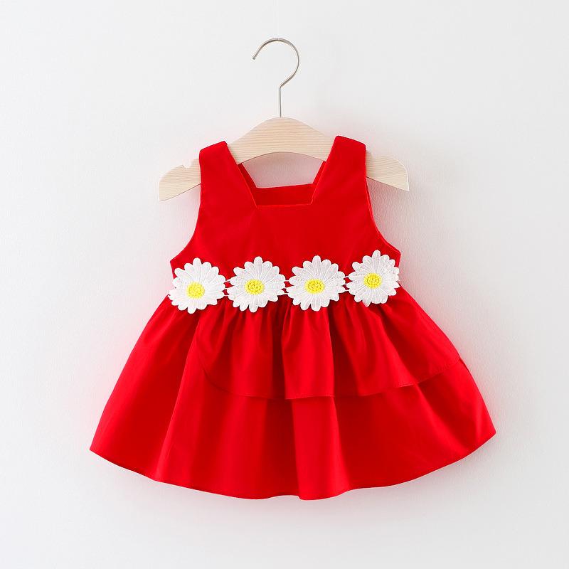 14e67616917 Flower Baby Girls Dress 2018 New Sleeveless Newborn Dresses for Baby Girls  Summer Birthday Party Dress Baby Clothing