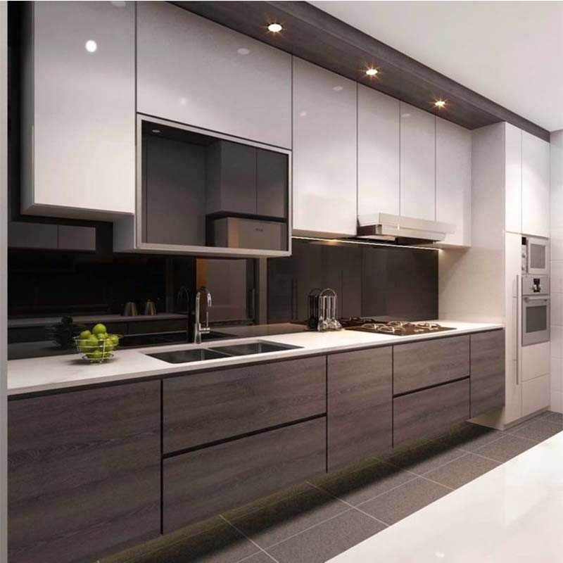 China Customer Design New Kitchen Cupboards Assembled Kitchen Cabinets Photos Pictures Made In China Com