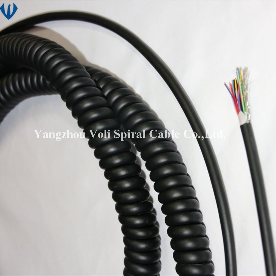 China Factory Customized Spiral Cable Power Cord Coiled Cord Photos ...