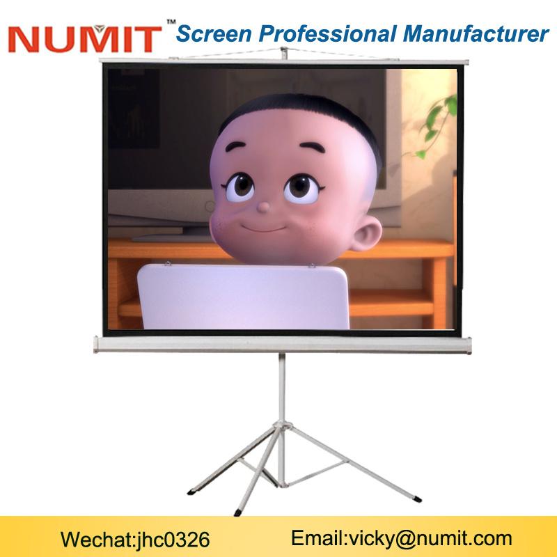 84 tripod projection projector screen 16:9 Glass Bead
