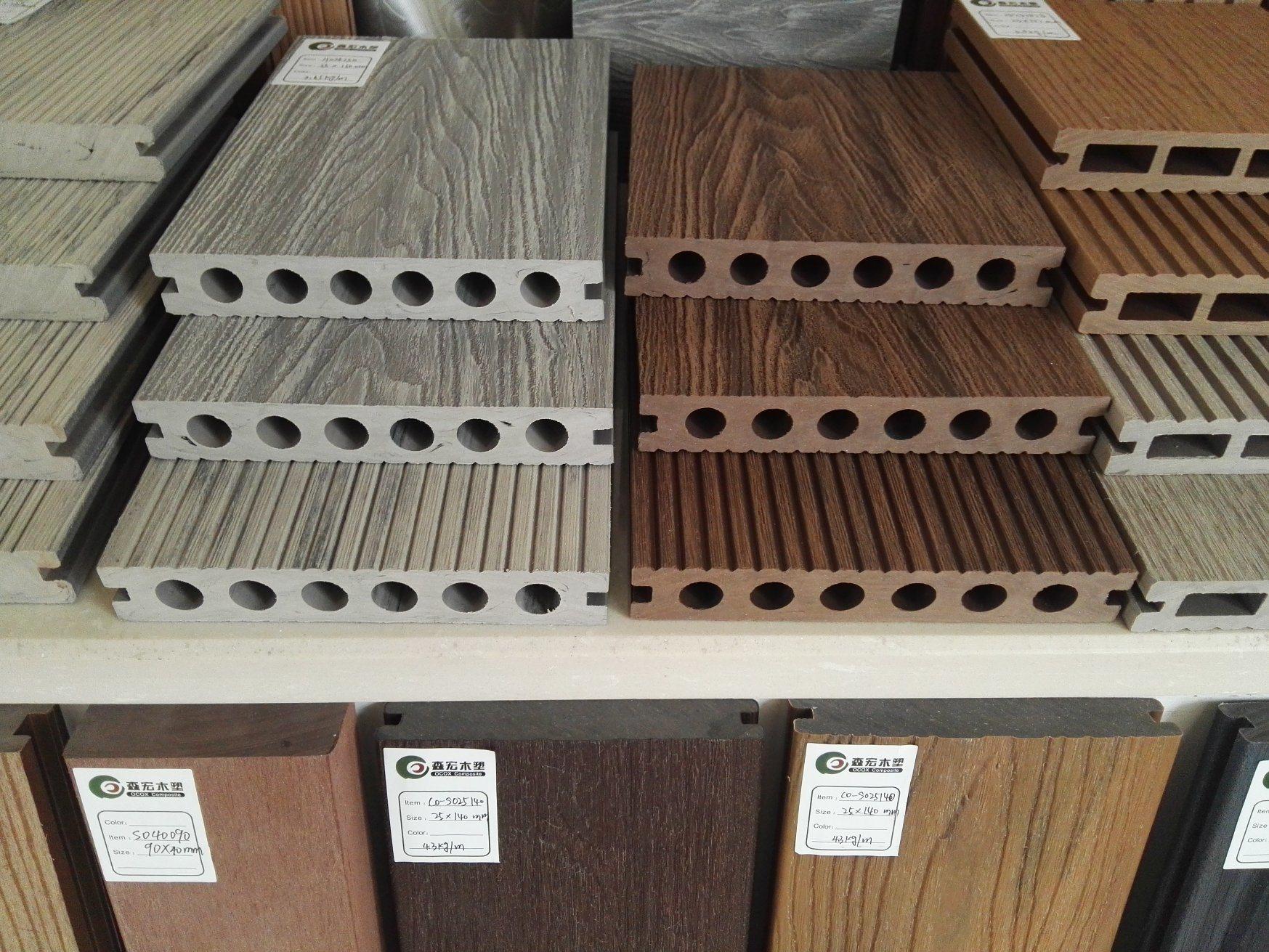 China Online Wood Grain Wpc Outdoor Composite Decking Woodgrain
