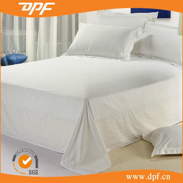 China Supplier Plain White Cotton Hospital Bed Sheet Set Twin