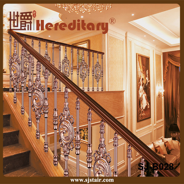 Rose Color Villa Interior Cast Aluminum Stair Handrail (SJ-B028) pictures & photos