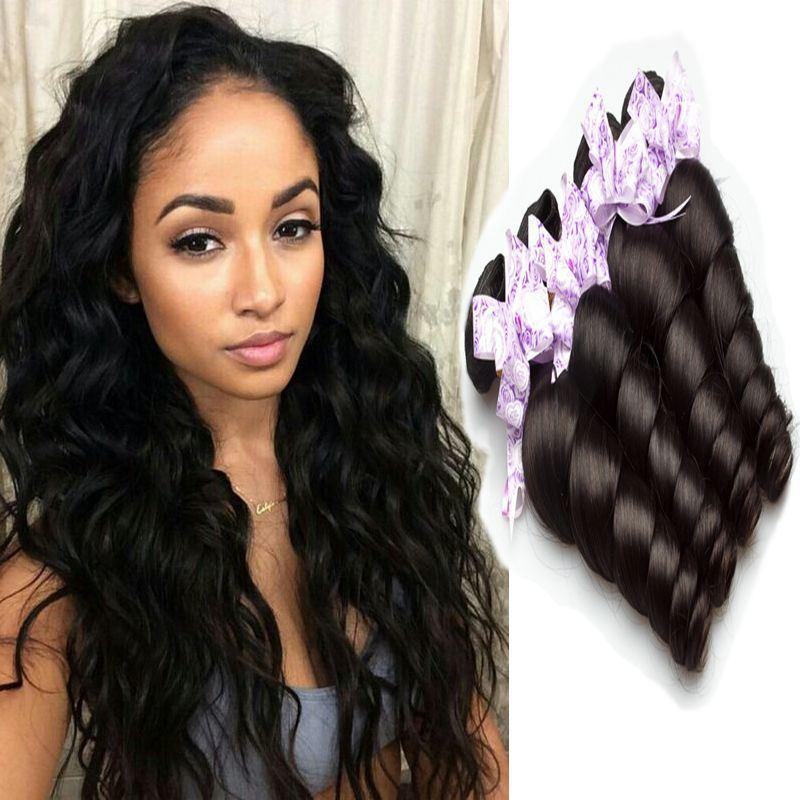 China Fashion Style Virgin Brazilian Loose Wavy Human Hair Weave