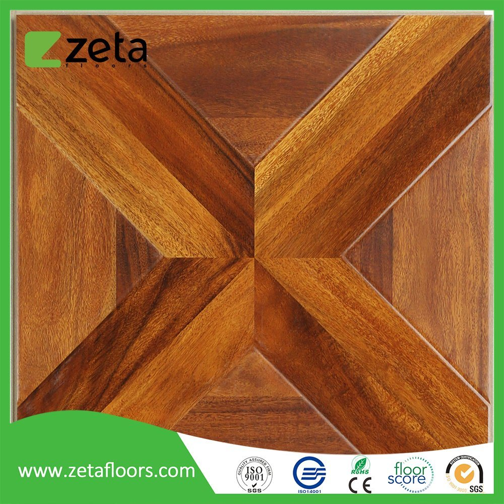 China Wood Texture Surface Waterproof Laminated Flooring Tile Top Quality HDF