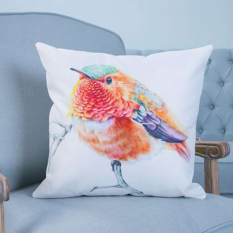 Digital Print Decorative Cushion/Pillow with Birds Pattern (MX-41)